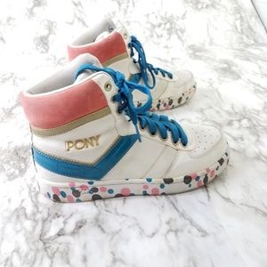 Vintage pony sneakers pink spellout skater 7.5